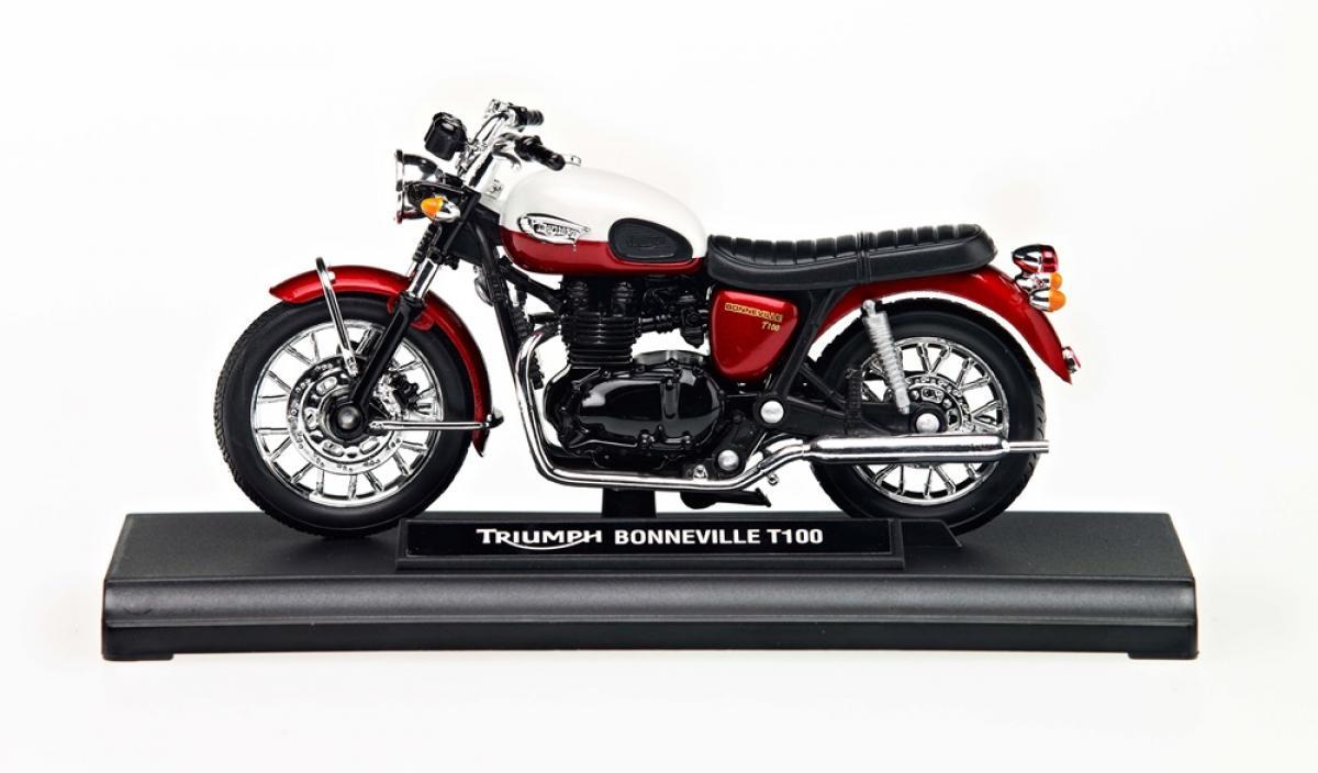 Triumph Bonneville T100 118 Model Whitered Ebay