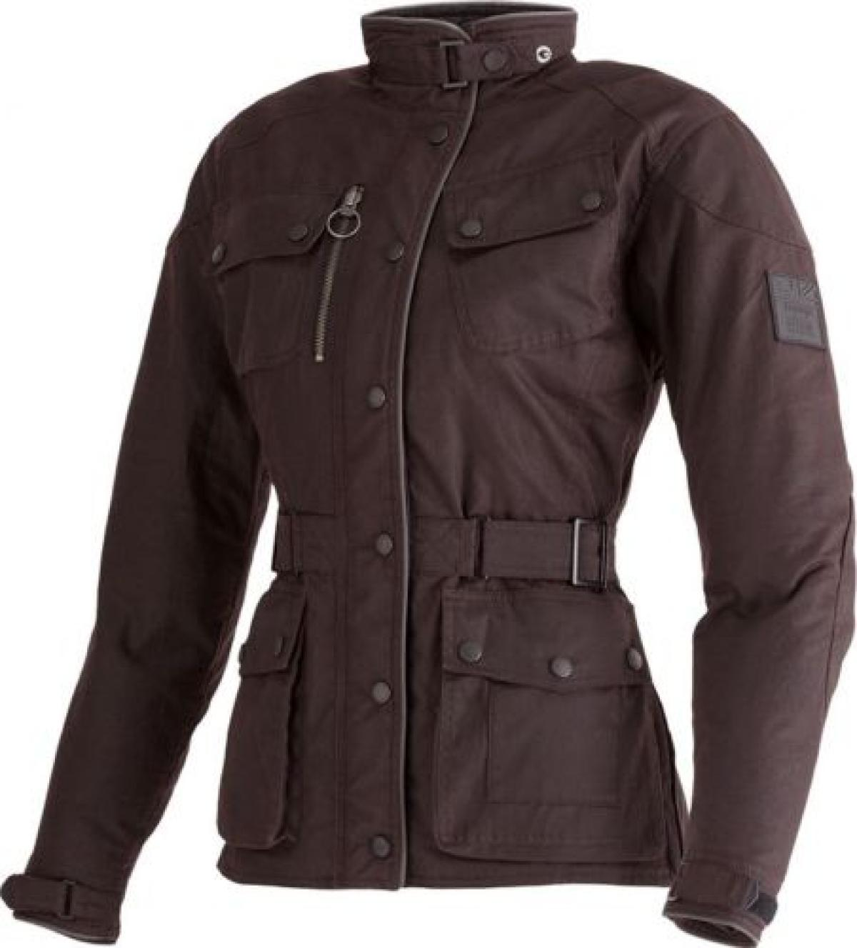 451b72ce661 Details about Triumph Barbour Lady Oxblood Waxed Cotton Motorcycle Jacket  D30 Armour