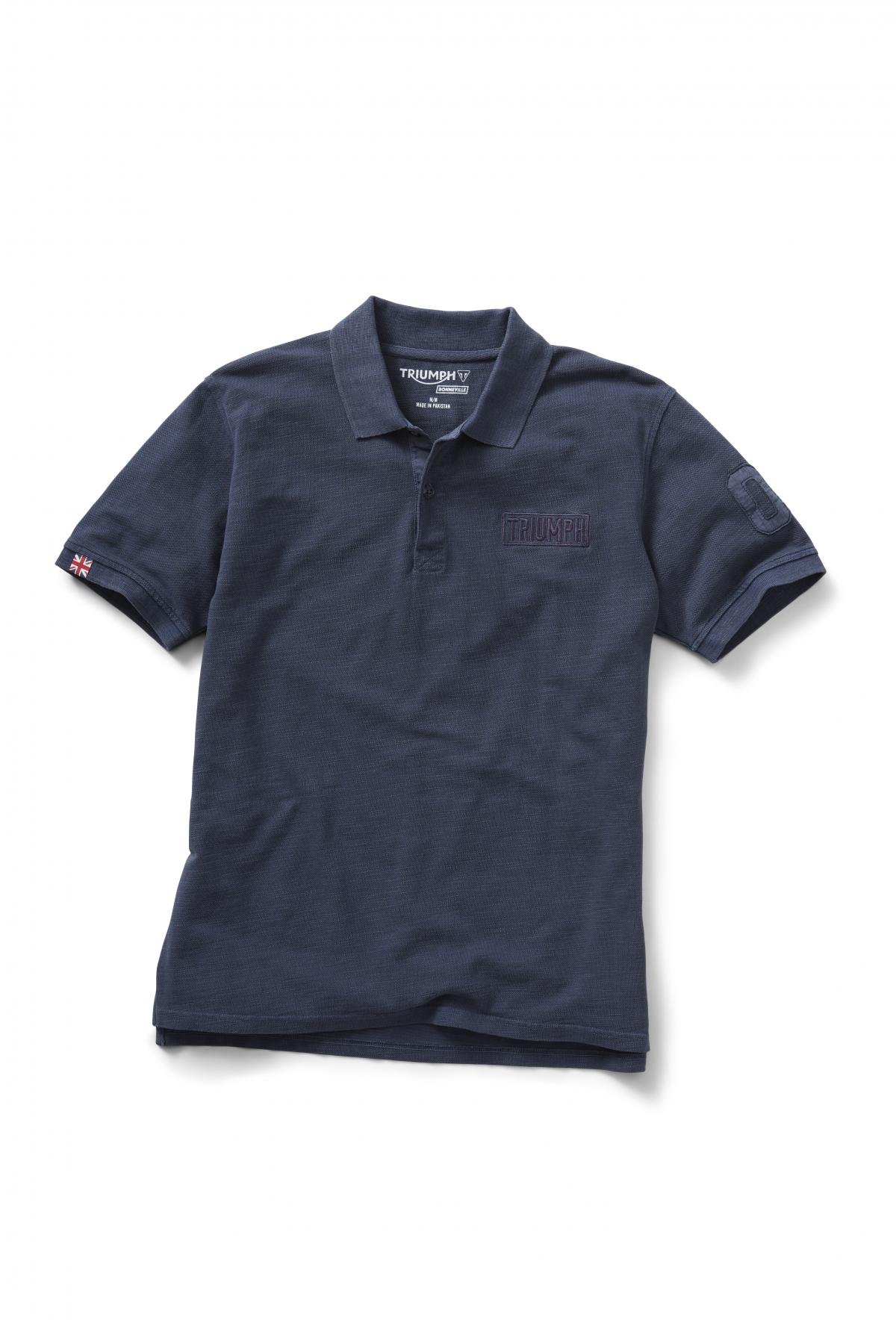 TRIUMPH OLDERSHAW BLUE POLO SHIRT NEW FOR SPRING//SUMMER 2019 MPOS19413